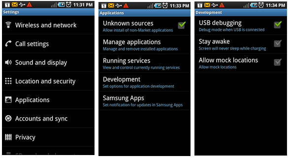 galaxy s3 usb debugging Galaxy ACE S5830i : Upgrade to Official Value Pack XWKTQ Gingerbread 2.3.6 Firmware